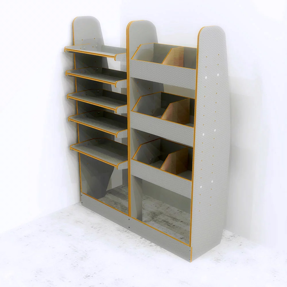 OS NS Storage System Tool Rack Fits Volkswagen VW Caddy SWB Plywood Racking shelving