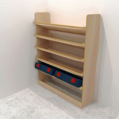 Drill box / Power tool box (650mm) plywood storage rack
